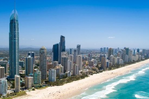 Playa azul turqueza en Miami