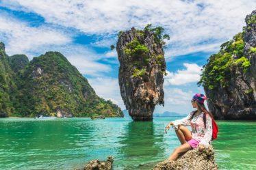 Chica turista en Tailandia
