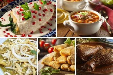 Collage de comida mexicana