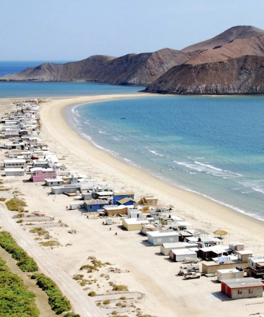Vista aérea de playa de Baja California