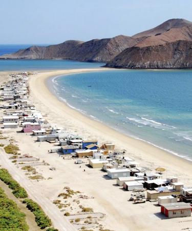Vista aérea de playa de Baja California